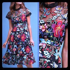 Fantastyou embroidered floral a-line dress